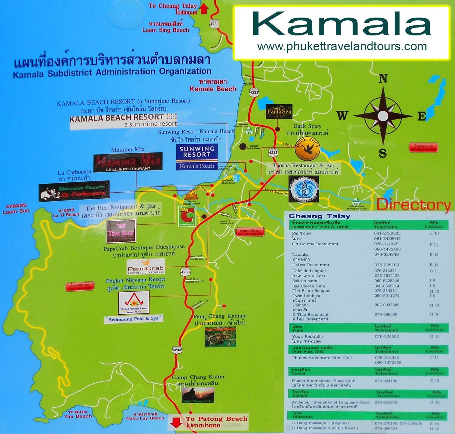 How To Choose A House Phuket Maps Patong Kata Karon Kamala Phuket Town Rawai