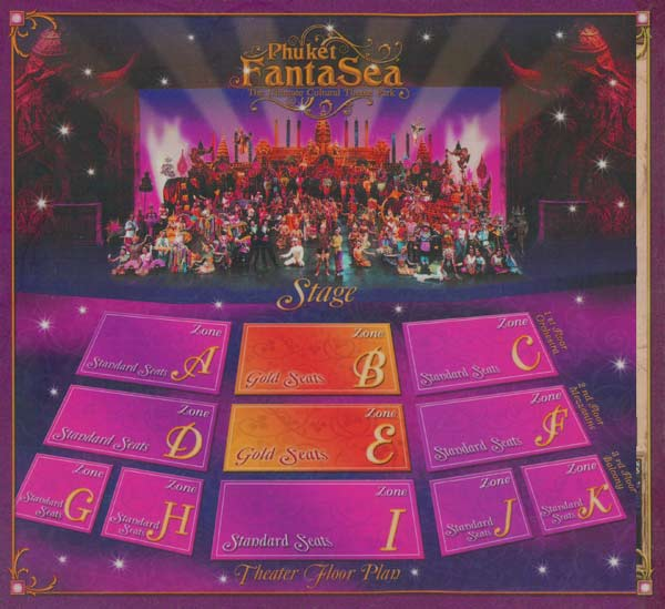 Seating Plan for Fantasea